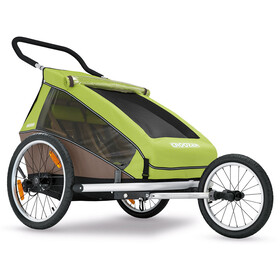 Croozer Kid for 2 Fahrrad-Kinder-Anhänger meadow green/sand grey
